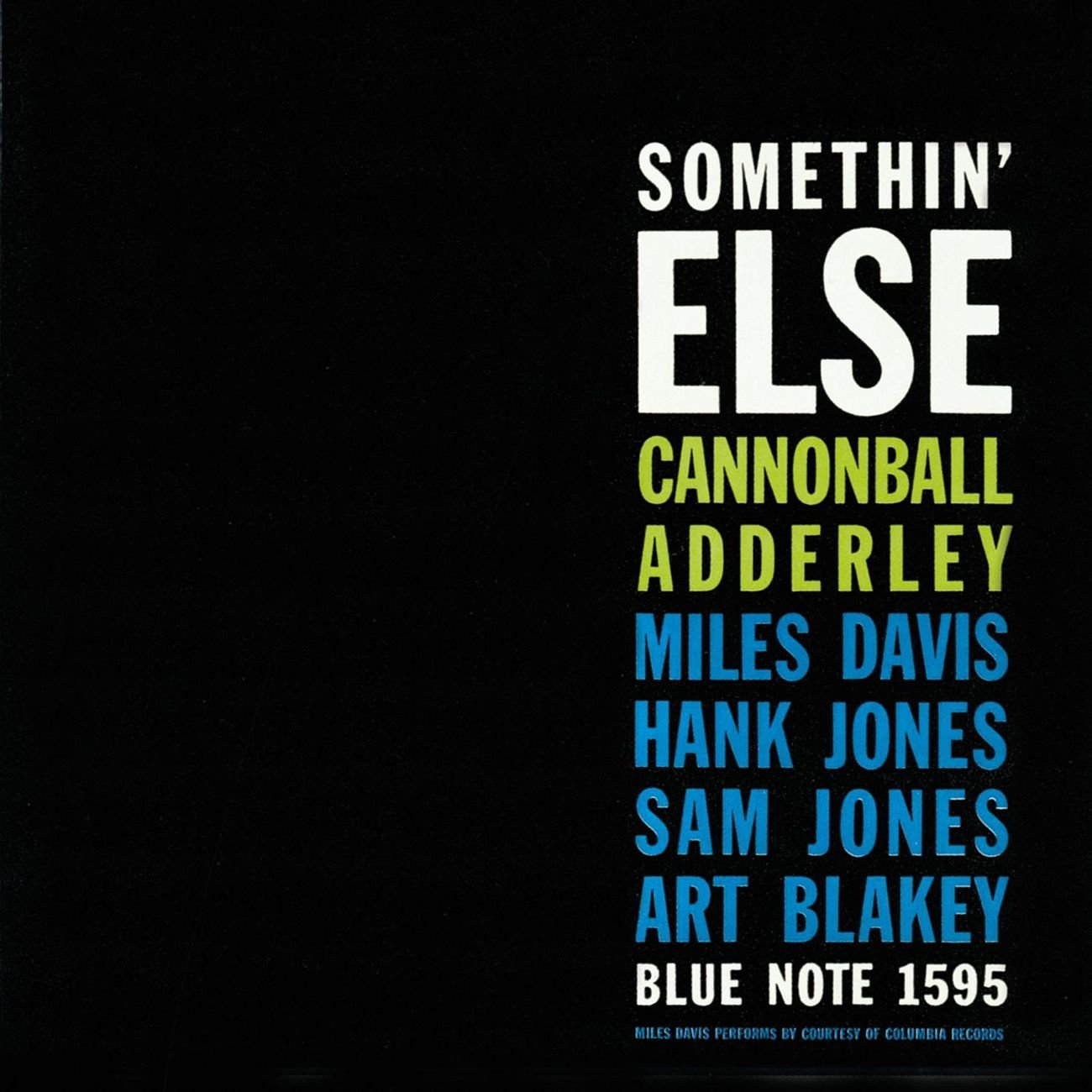 Cannonball Adderley</br> Somethin' Else</br>Blue Note, 1958