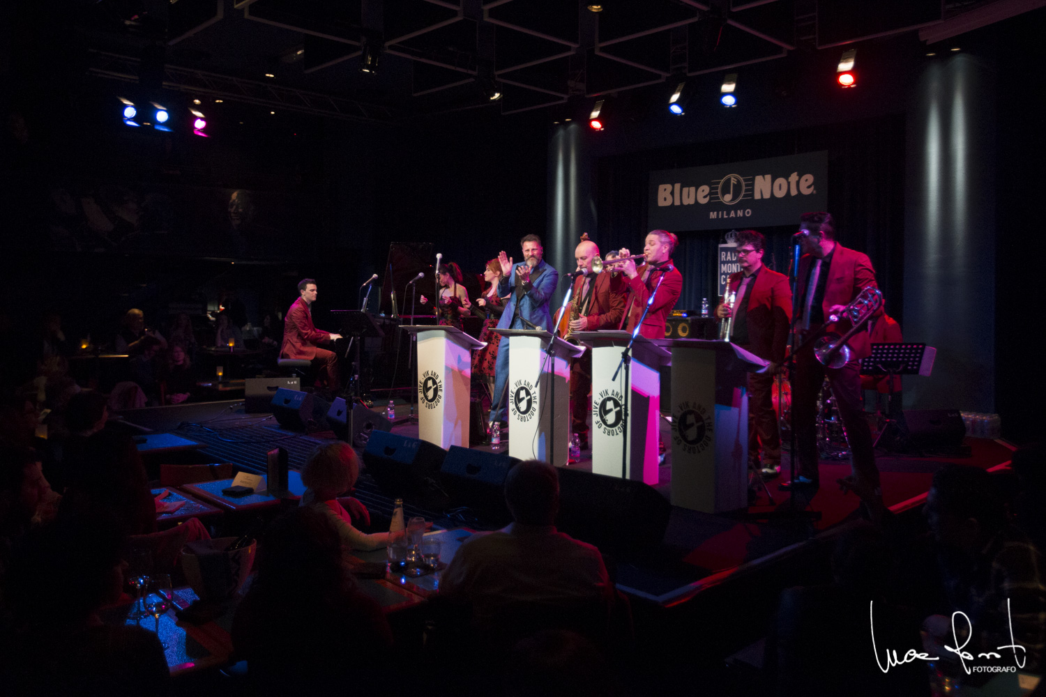 Luca Rossato</br>Vic And The Doctors Of Jive al Blue Note</br>Reportage