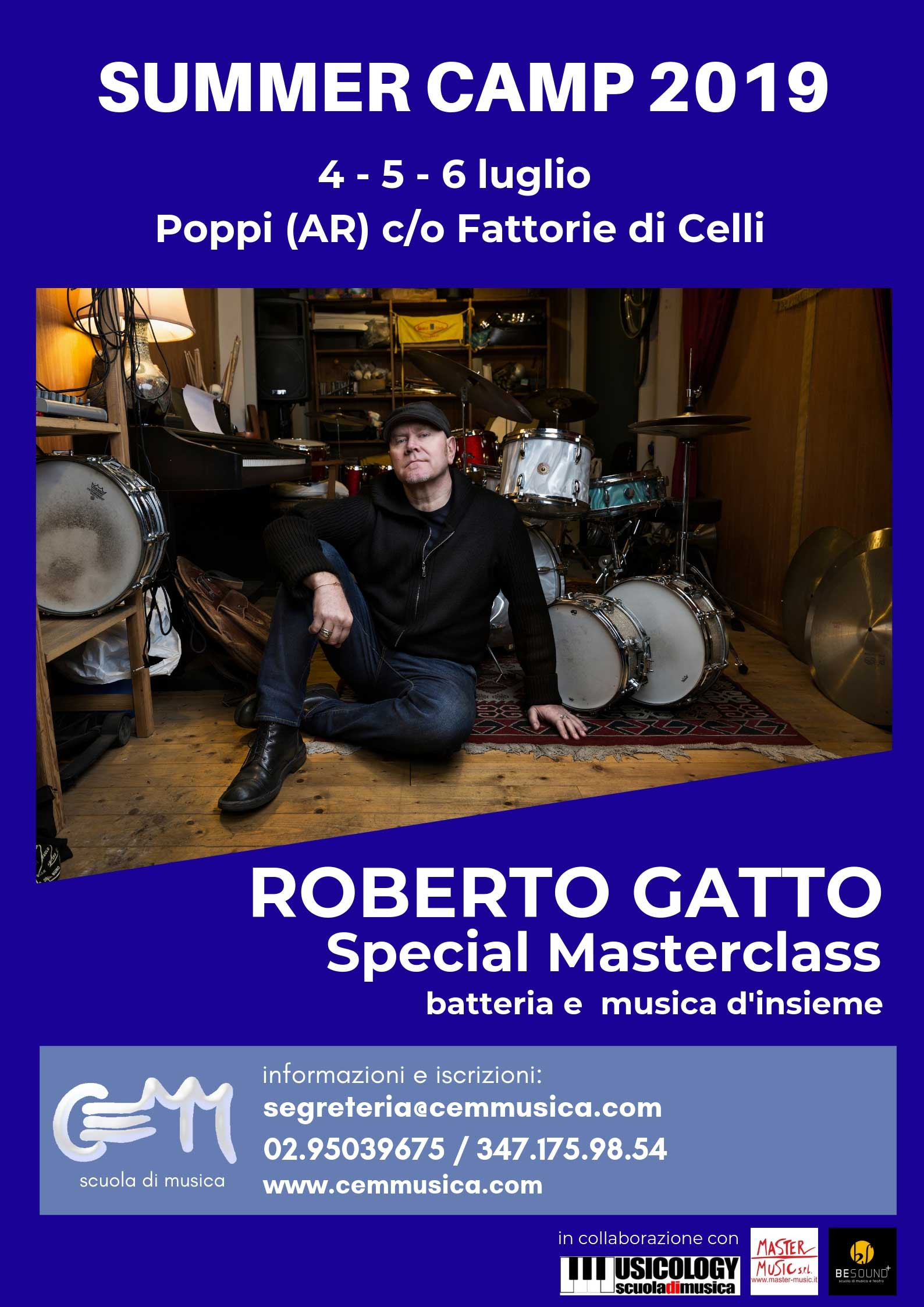 Masterclass Roberto Gatto – Cemm Summer Camp