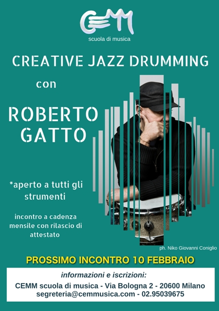 Creative Jazz Drumming con Roberto Gatto