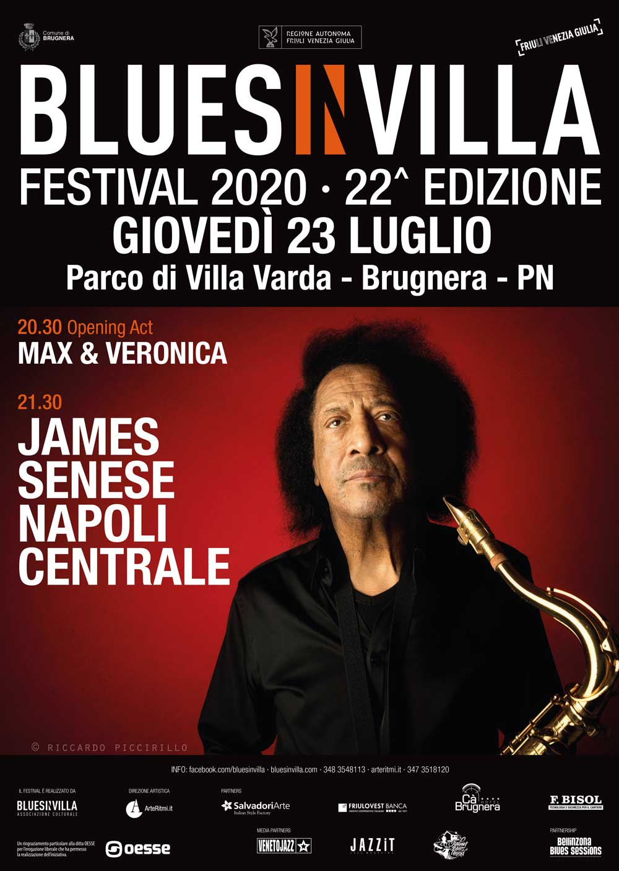James Senese Napoli Centrale – Blues in Villa 2020