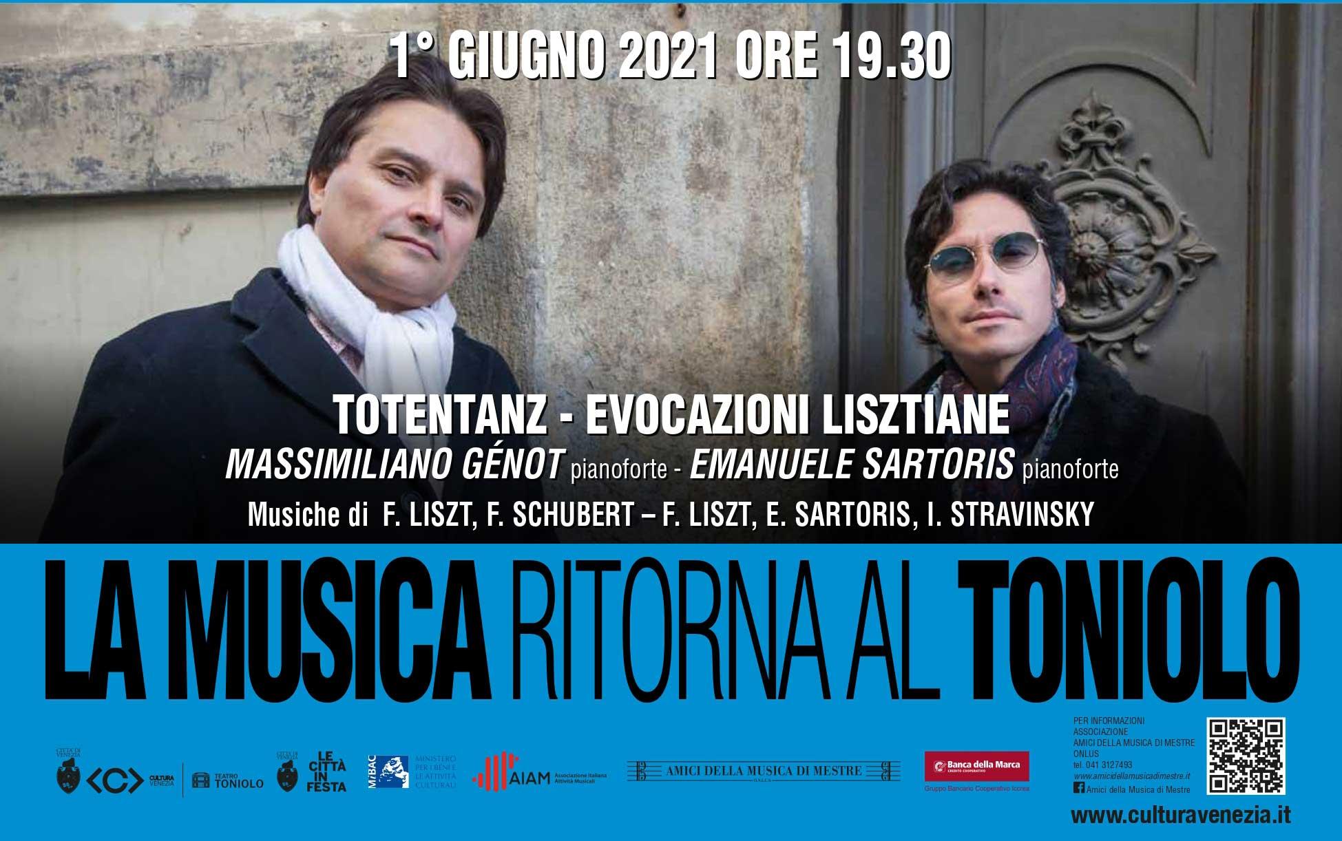 "Massimiliano Génot ed Emanuele Sartoris – ""Totentanz – Evocazioni Lisztiane"""