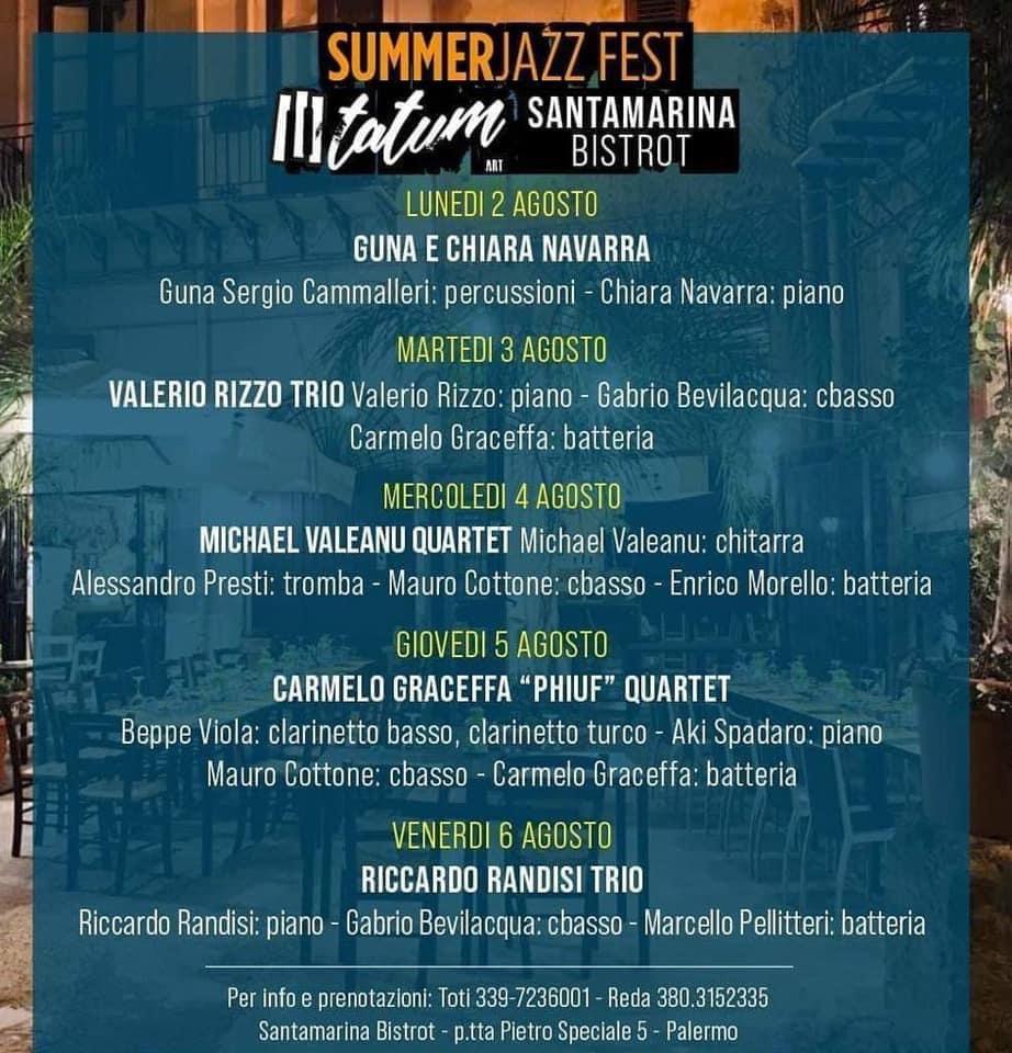 Tatum Art – Santamarina Bistrot Summer Jazz Fest